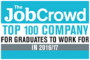 The Job Crowd Top 100 Company for Graduates to work for in 2016/17