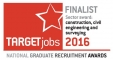 Target Jobs National Graduate Recruitment Awards Finalist 2016