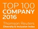Top 100 Company 2016 Thomson & Reuters Diversity and Inclusion Index