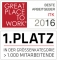 1. Platz bei Great Place To Work 2016